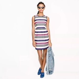 J.Crew Sleeveless Multi-stripe Nautical Dress